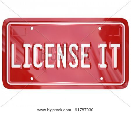 License It Vanity Plate Official Product Licensing