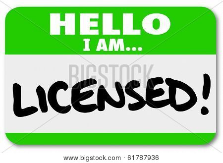 Hello I am Licensed Name Tag Official Certification