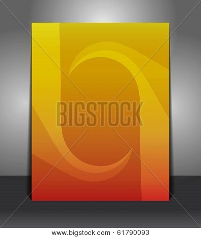 Abstract orange poster template background