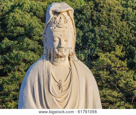 Bodhisattva Avalokitesvara (Kannon) at Ryozen Kannon in Kyoto