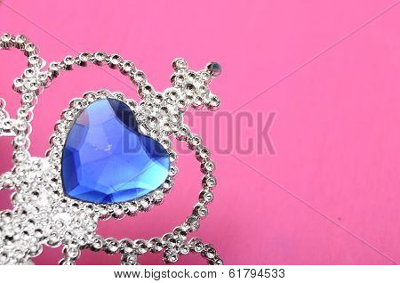 Toy Tiara With Blue Gem