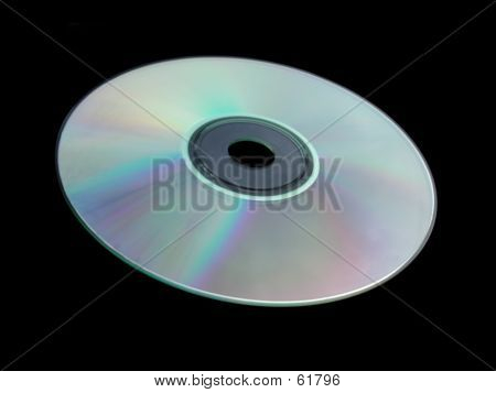 Blank CD Against Black.