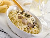 image of truffle  - tagliatelle with truffle and cream sauce - JPG