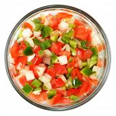 stock photo of trinity  - Trinity of chopped Tomato - JPG
