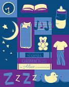 stock photo of nursery rhyme  - Bedtime rituals for baby or toddler - JPG