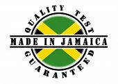 foto of jamaican flag  - Quality test guaranteed stamp with a national flag inside Jamaica - JPG