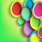 foto of easter card  - Abstract background with colorful Easter egg - JPG