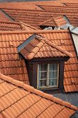 Dormer window on the roof