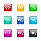 pic of carbon-dioxide  - carbon dioxide web icons set - JPG