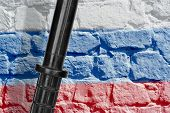 Baton And The Russian Flag