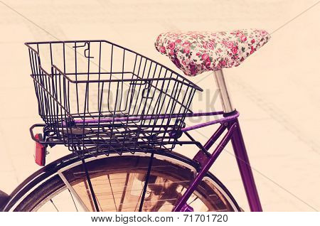 Feminine Vintage Bicycle With Basket