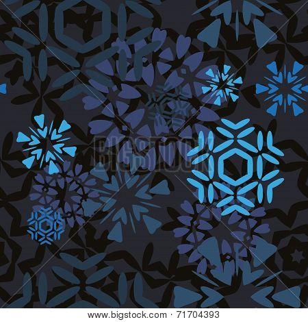 Dark Snowflakes Pattern