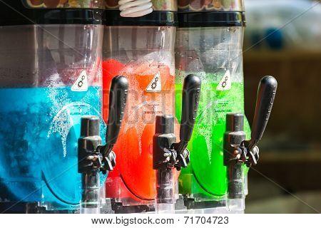 Artificial Juice In Juice Dispenser