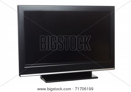 flat screen tv isolated on white background