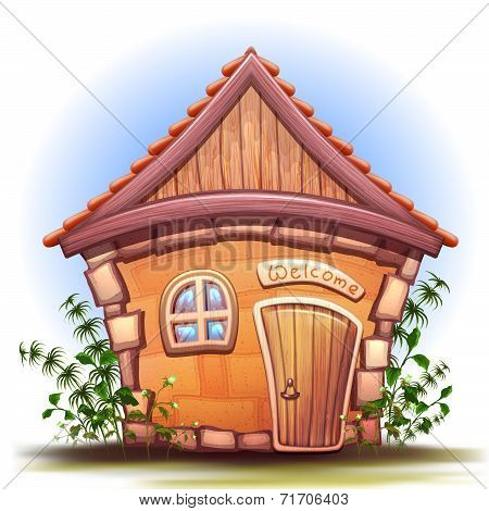 Vector illustration of cartoon home