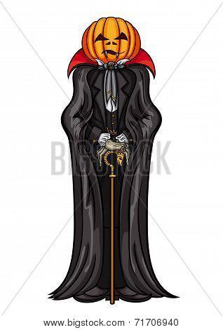 Halloween Pumpkin Head Vampire