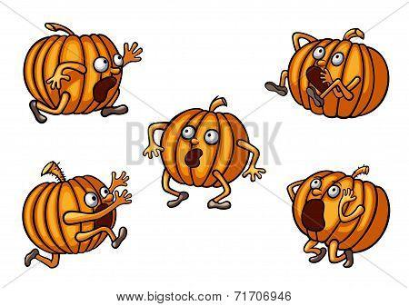 Halloween Runaway Pumpkin set