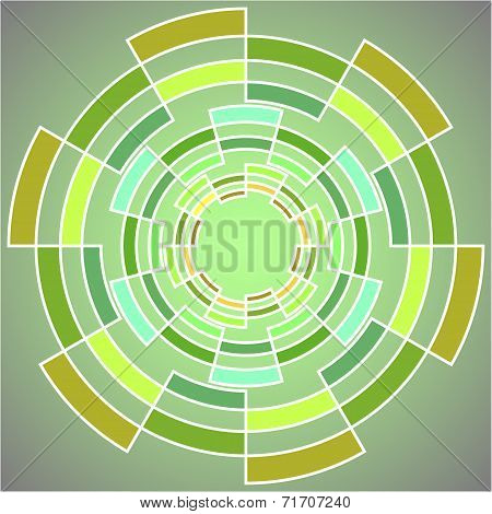 Abstract geometric figure for graphic design.Vector illustration EPS10.