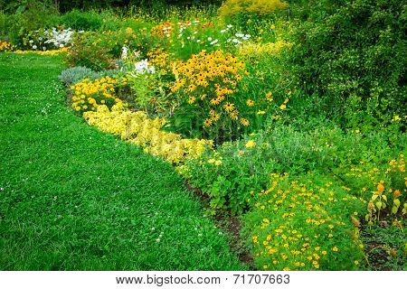 Fresh Green Landscape Of Formal Garden