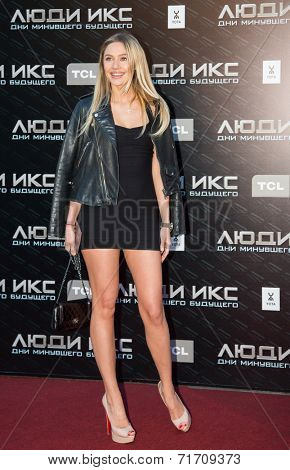 MOSCOW, RUSSIA, May, 13: Natalya Rudova. Premiere of the movie