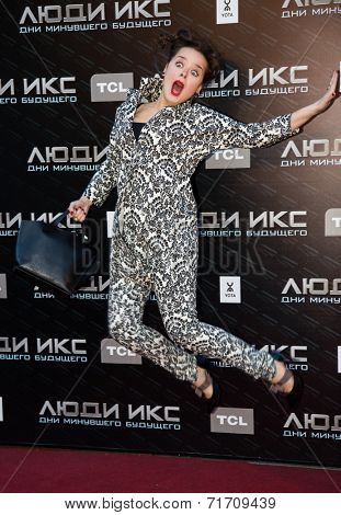 MOSCOW, RUSSIA, May, 13: Actress Natalya Medvedeva. Premiere of the movie