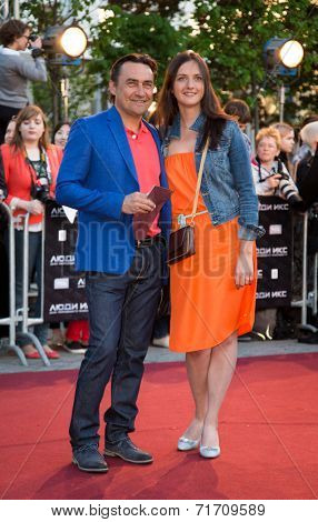 MOSCOW, RUSSIA, May, 13: Actor Kamil Larin. Premiere of the movie