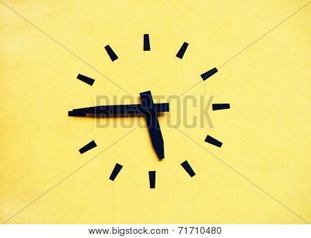 Clock on a building facade