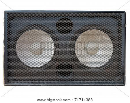 Powerful Stage Concerto Audio Speakers Isolated On White