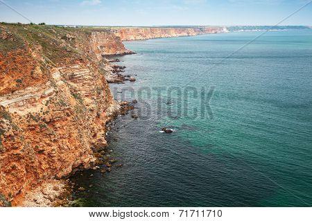 Kaliakra Headland. Bulgaria, Black Sea. Coastal Landscape