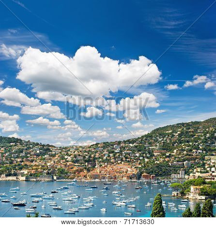 View Of Luxury Resort. French Riviera, Mediterranean Sea