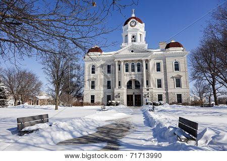Old Courthouse In Carthage, Illinois