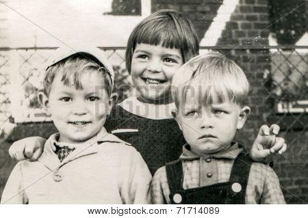 ILOWA, POLAND, CIRCA 1962 - Vintage photo of children