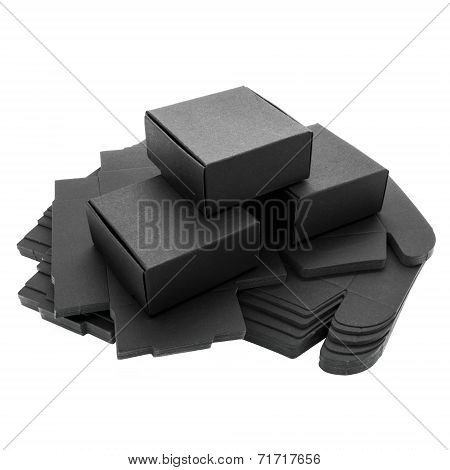 Foldable Black Paper Boxes