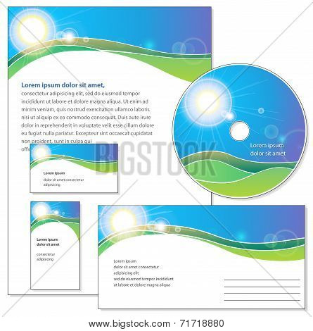 Template for corporate identity.