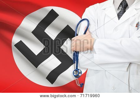 Concept Of National Healthcare System - Nazi Germany And The Third Reich Flag