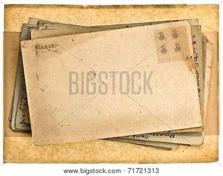 Blank Grunge Vintage Postcard Background