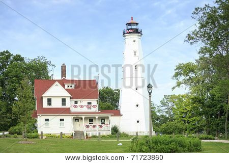 Lighthouse In Milwaukee, Wisconsin