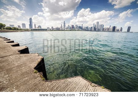 Beautiful Skyline Of Chicago, Illinois.