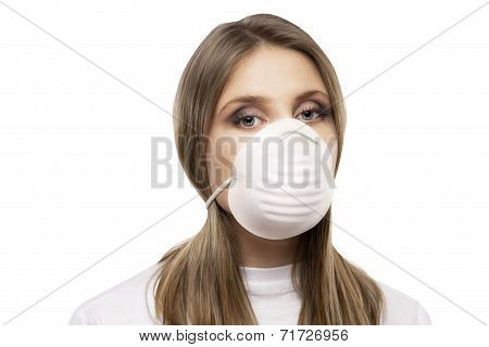 Girl With Protective Mask