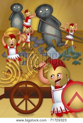 Greek Soldiers Looting the Temple
