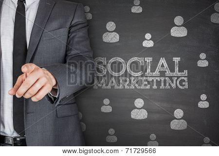 Social marketing on blackboard