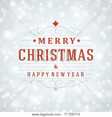 Christmas light vector background. Greeting card design or invitation and holidays wishes.