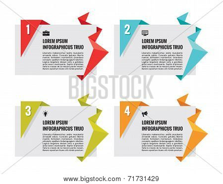 Origami Vector Banners - Infographic Concept