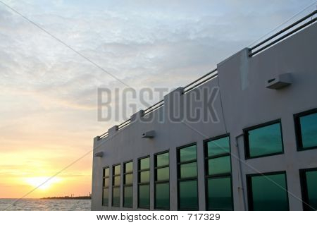 Sun Set At Bang Pu Industrial Estate