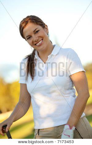Golf Player Portrait
