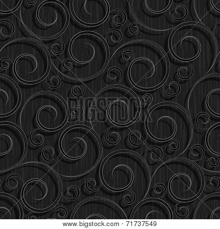 seamless black floral wallpaper pattern
