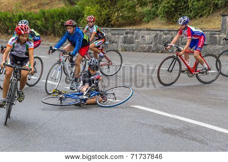 Fallen Cyclist