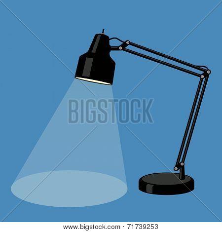 Reading-lamp. Flat design. Vector illustration