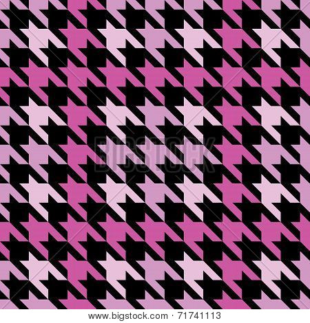 Plaid Houndstooth in Pink