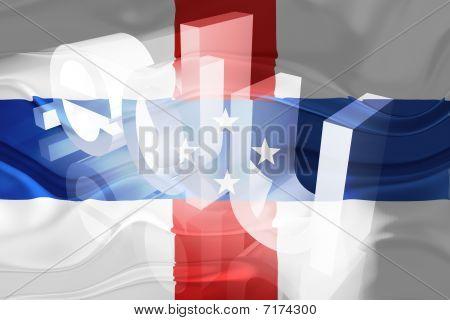 Bandeira das Antilhas Holandesas ondulado educação